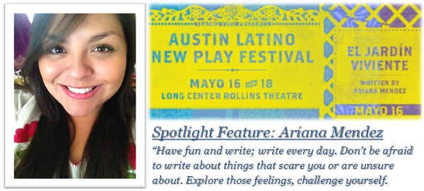 ALNPF 2013 Spotlight Feature: Ariana Mendez