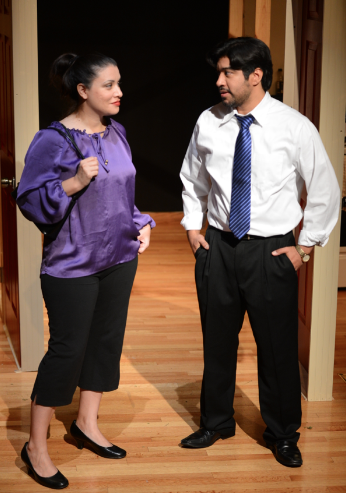 Karinna Perez Cantu and Mario Ramirez are unlikely friends in Vecinos